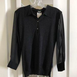 Dolce & Gabbana sparkly black blouse